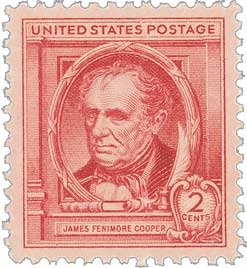 1940 Famous Americans: 2c James Fenimore Cooper
