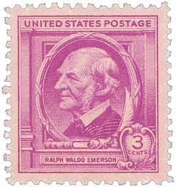1940 Famous Americans: 3c Ralph Waldo Emerson