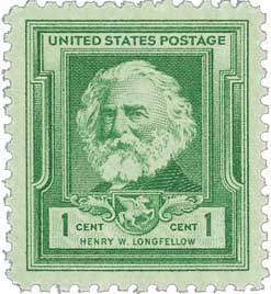 1940 1c Henry Wadsworth Longfellow