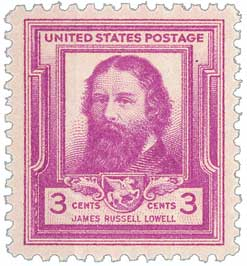 1940 Famous Americans: 3c James Russell Lowell