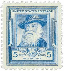 1940 Famous Americans: 5c Walt Whitman