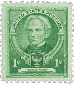1940 Horace Mann stamp