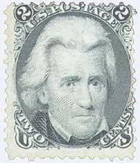 1867 2c Jackson, black