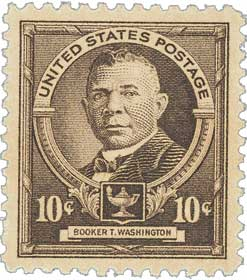 1940 Famous Americans: 10c Booker T. Washington