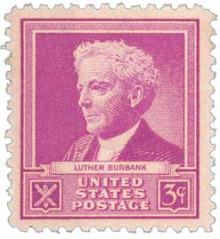 1940 Famous Americans: 3c Luther Burbank