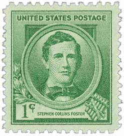 1940 1c Stephen Collins Foster