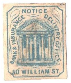 1862 (1c) blue