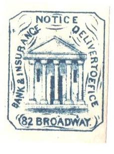 1863 (1c) blue