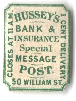 1863 1c green