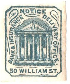1858 (1c) blue