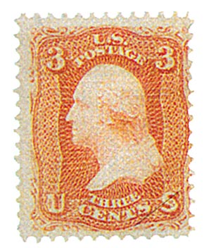 1867 3c Washington, rose