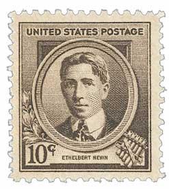 1940 Famous Americans: 10c Ethelbert Nevin