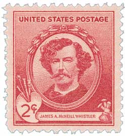 1940 Famous Americans: 2c James A. McNeill Whistler