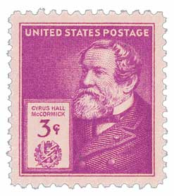 1940 Famous Americans: 3c Cyrus Hall McCormick