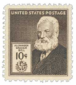 1940 Famous Americans: 10c Alexander Graham Bell