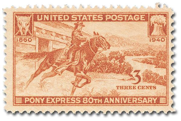 1940 3c Pony Express 80th Anniversary