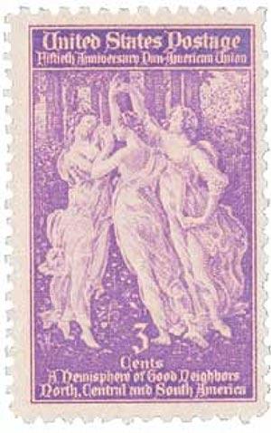 1940 3c Pan-American Union