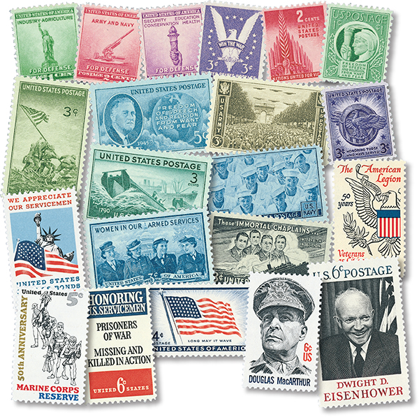 1940-73 WWII Set of 32 Mint US Stamps