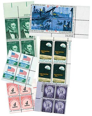 US 3c Plate Block Collection 25v