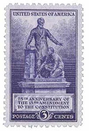 1940 3c Emancipation Memorial, 13th Amendment
