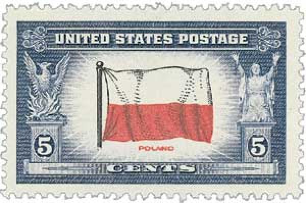 1943 Overrun Countries: 5c Flag of Poland