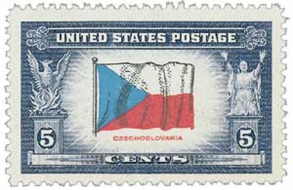 1943 5c Flag of Czechoslovakia