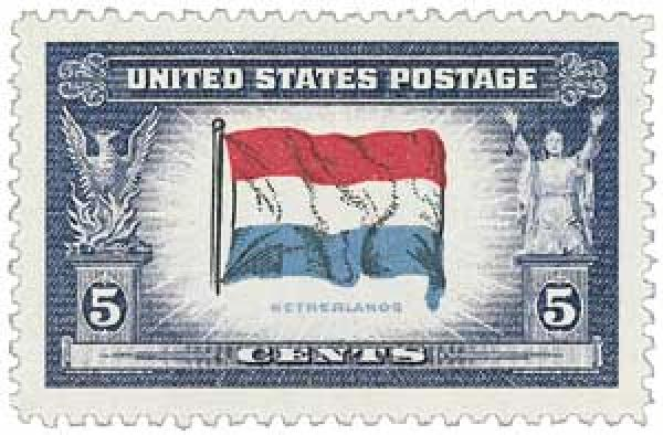 1943 Overrun Countries: 5c Flag of Netherlands