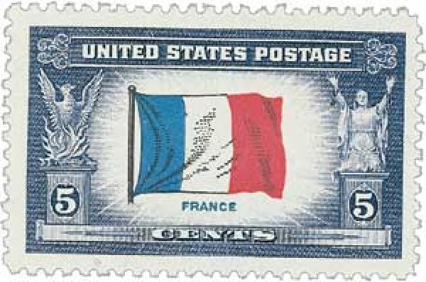 1943 5c Flag of France