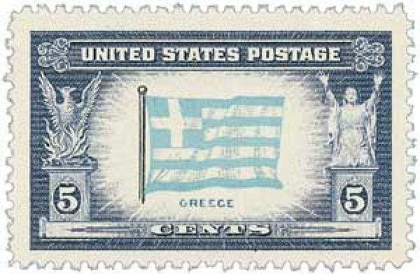1943 5c Flag of Greece