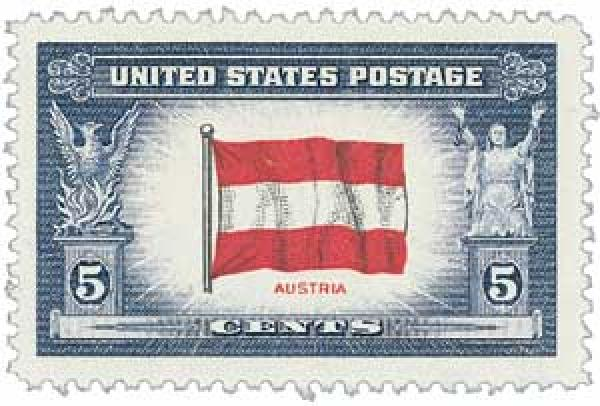 1943 Overrun Countries: 5c Flag of Austria