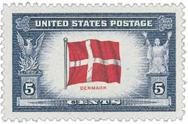 1943 5c Flag of Denmark
