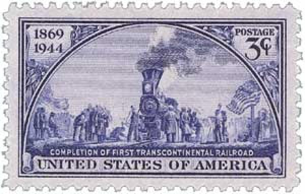 1944 Transcontinental Railroad stamp