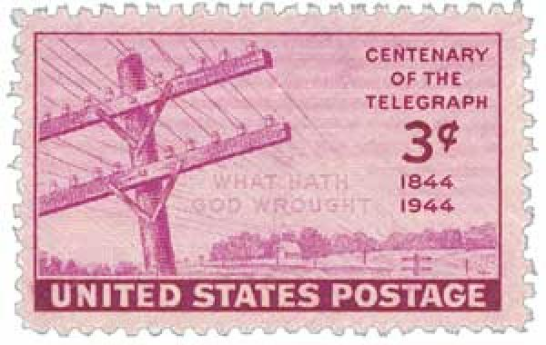 1944 3c Telegraph For Sale At Mystic Stamp Company
