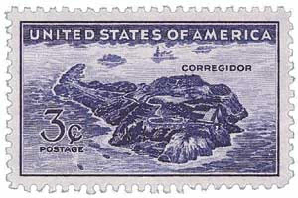 1944 3c Corregidor, Manila Bay