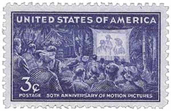 1944 3c 50th Anniversary of Motion Pictures