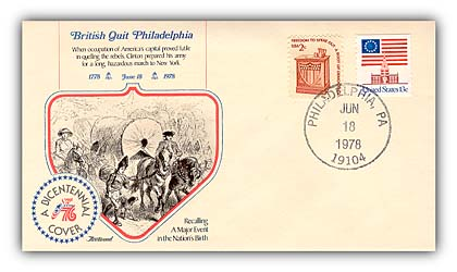 Item #93071 – Commemorative cover marking the end of British occupation of Philadelphia.