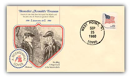 Item #93120 – Commemorative cover marking 200th anniversary of Arnold's treason.