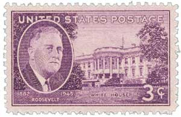 1945 3c Roosevelt and White House