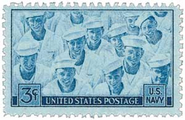 U.S. #935 was issued to honor the role of the Navy in WWII.
