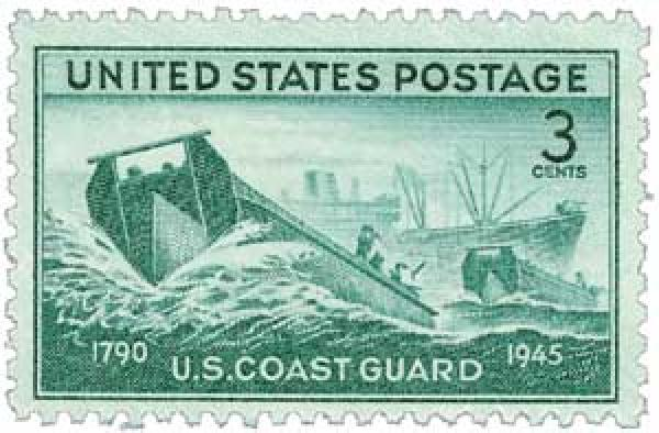 1945 3c US Armed Forces: Coast Guard