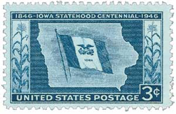 1946 3c Iowa Centennial