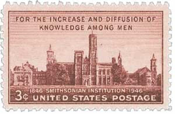 1946 3c Smithsonian Institution