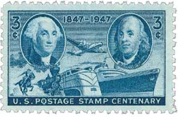 1947 3c U.S. Postage Stamp Centenary