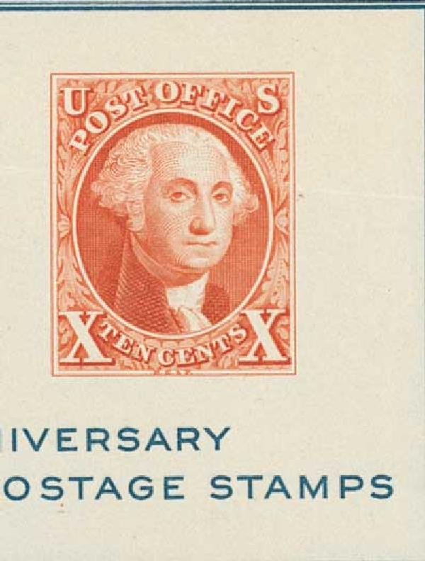 1947 10c Washington, brown orange, single stamp