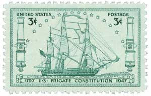 1947 3c U S  Frigate Constitution for sale at Mystic Stamp