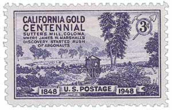 1948 3c California Gold Rush Centennial
