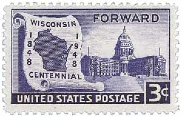 1948 3c Wisconsin Statehood For Sale At Mystic Stamp Company