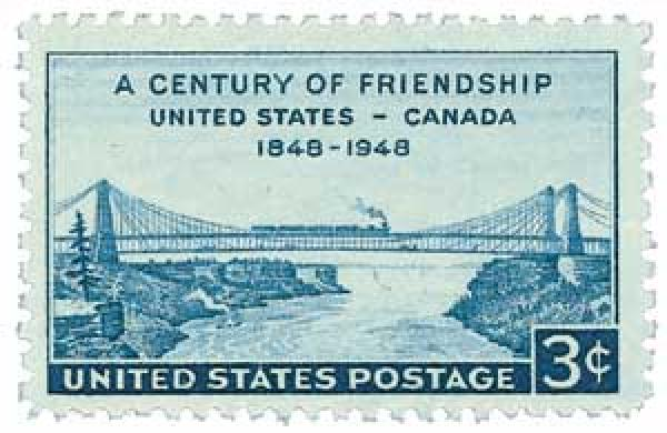 1948 3c A Century of Friendship, United States - Canada