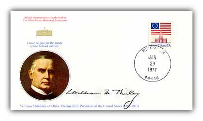 1977 William McKinley Commemorative Cover