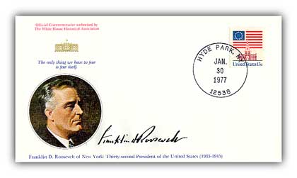 1977 Franklin D. Roosevelt Commemorative Cvr